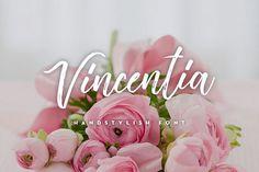 Vincentia Handstylish Font from FontBundles.net