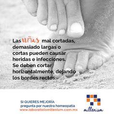 Sabes que cortar mal las uñas de los pies puede causar daños en la salud de tus pies? Desde que dolor leve hasta fuertes infecciones.