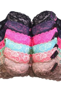 6312fcc632ea5 Sofra Ladies Full Cup Lace D Cup Bra - 3 Hooks