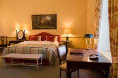 The hotel, the rooms and suites are especially remarkable due to their first class individual style and comfort. Traditional, Luxury, Bed, Room, Furniture, Home Decor, Style, Bedroom, Swag