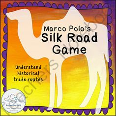 Marco Polos Silk Road Game from Rebecca Reid's Line upon Line Learning on TeachersNotebook.com -  (60 pages)  - Teach about Europe to Asia historical trade routes with a GAME inspired by Marco Polo's travels. It is perfect for both homeschooling settings and for classrooms. Which group of traders can return to Venice with a profit?