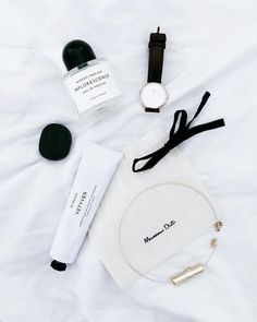 Gorgeous black and white flatlay