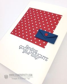 Create a mini envelope accent with the Stampin Up  hexagon punch - Mary Fish - video tutorial in post
