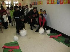 build a snowman relay  Maybe have 5 or 6 snowmen ready to be built...
