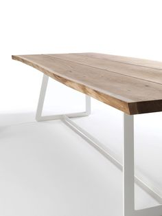 Solid wood table CALLE by Riva 1920 design Aldo Spinelli