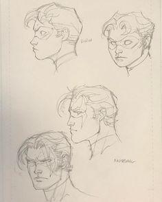 Jim Lee Dick Grayson from Robin to Nightwing War Comics, Marvel Comics, Comic Books Art, Comic Art, Jim Lee Art, Batman Hush, Drawing Heads, Male Figure Drawing, Woman Sketch