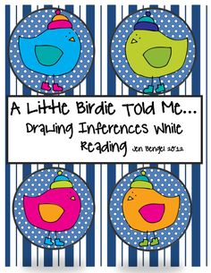 """FREE LANGUAGE ARTS LESSON - """"Drawing Inferences Printable Bookmarks and Worksheet"""" - Go to The Best of Teacher Entrepreneurs for this and hundreds of free lessons."""