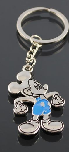 Mickey Cute Cartoon Mouse Keychain Keyring Metal Figure Key Chain Pendant