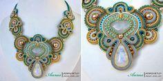 Ожерелья Aurus Jadwiga Soutache Necklace, Shibori, Jewlery, Beads, Patterns, Fashion, Beading, Block Prints, Moda