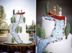 Love this river wedding cake. Especially since we are getting married next to a river!