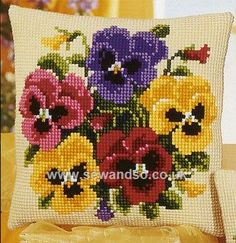 Shop online for Pansy Posy Cushion Front Chunky Cross Stitch Kit at sewandso.co.uk. Browse our great range of cross stitch and needlecraft products, in stock, with great prices and fast delivery.