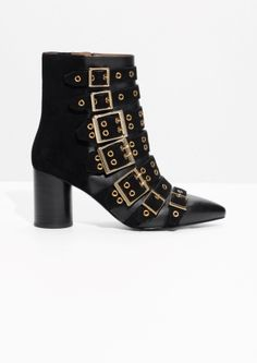 Other Stories   Multi Buckle Ankle Boots Look De Printemps, Chemisier,  Veste, 0163079b5b6