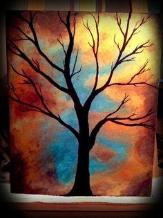 "Acrylic painting 11"" x 14"" canvas By Amanda Biddenback"