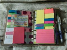 the ultimate in portable post it organization!