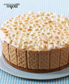 This fan-favourite ice cream cake is easy as it is delicious. Chocolate ice cream, whipped topping, roasted marshmallows and graham wafers. Tap or click photo for this S'mores Ice Cream Cake (Chocolate Frosting For Donuts) Ice Cream Toppings, Ice Cream Desserts, Frozen Desserts, Ice Cream Recipes, Potluck Desserts, Chocolate Ice Cream Cake, Chocolate Frosting, Donuts, Biscuits Graham