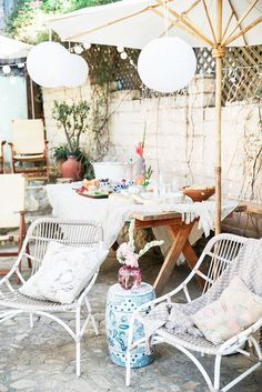Outdoor party décor inspiration