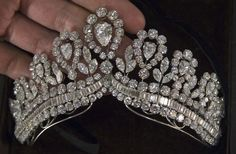 Close-up of Evita Peron's diamond tiara, worn only once... as a necklace.