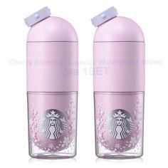 Starbucks KOREA 2017 Cherry Blossom Capsule Waterbottle 490ml 2ea 1SET #Starbucks