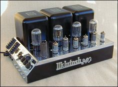 McIntosh MC-240 stereo tube amp. 40w/ch stereo, 80w mono. Sold 1960-1969. http://www.roger-russell.com/amplif1.htm