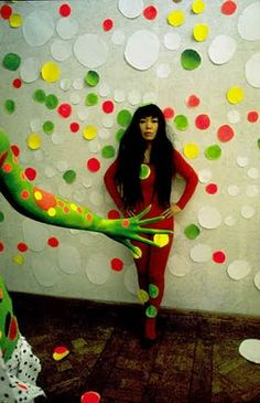 kusama. This piece of art uses different complementary and contrasting.