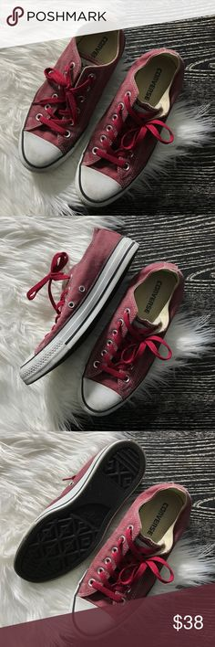 Converse Red Sneakers Womens 8 WORN ONCE - like new / converse / red sneakers / 8 Converse Shoes Sneakers