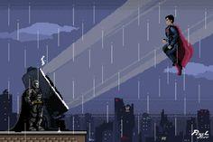 Бэтмен против Супермена,DC Extended Universe,Расширенная вселенная ДиСи,DC Comics,DC Universe, Вселенная ДиСи,фэндомы,Бэтмен,бетмен приколы,Супермен,DC Gif,Гифки,Pixel Gif,Pixel Art,Пиксель Арт, Пиксель-Арт