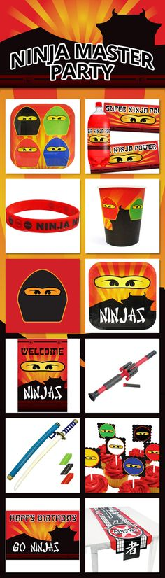 Ninja Master themed party supplies are perfect for bringing out the ninja in a boy's birthday party. Featuring everything from plates and napkins to decorations and favors, our exclusive Ninja Master designs & ninja themed party accessories will make that party a blast! Check them out: http://www.discountpartysupplies.com/boy-party-supplies/ninjago-party-supplies