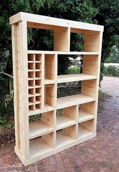 Let's craft something exceptional for your place. This time, we are proudly bringing to you a recycled wood pallets closet plan. This wooden creation is best to place in all areas of your home. You can simply use this amazing closet with different sizes of wooden blocks in it for storing decoration items as well as a storing/placing books closet.
