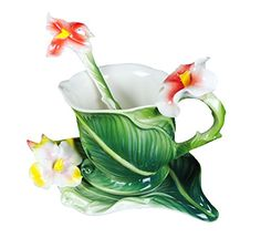 Choholete Porcelain Ceramic Tea Coffee Cup Set Elegant Green Canna 1 Cup 1 Saucer 1 Spoon Choholete http://www.amazon.com/dp/B00M40I5M4/ref=cm_sw_r_pi_dp_.clkub00CM9Y6