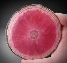 Slice of rhodochrosite from Argentina