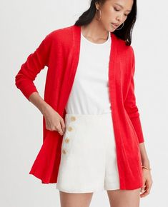 Shop Ann Taylor for effortless style and everyday elegance. Our Linen Blend Open Cardigan is the perfect piece to add to your closet. Open Cardigan, Fall Wardrobe, Ann Taylor, Blazer, Elegant, Sweaters, Cardigans, Jackets, Shopping