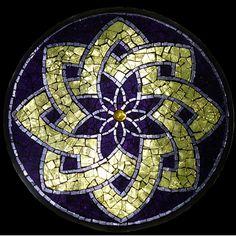 Mosaico Manchado De cristal Mandala por David Chidgey