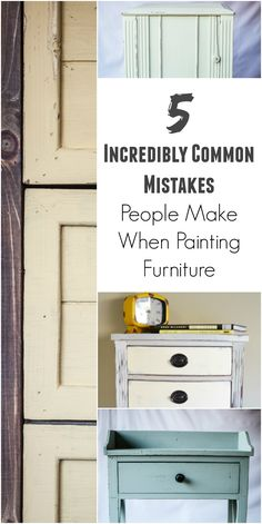 Common Mistakes People Make When Painting Furniture