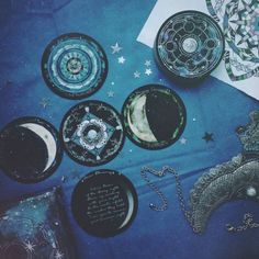 Find images and videos about book, moon and magic on We Heart It - the app to get lost in what you love. Ravenclaw, Witch Aesthetic, Blue Aesthetic, Wiccan, Witchcraft, Constellations, Hogwarts, Book Of Shadows, Tarot Decks