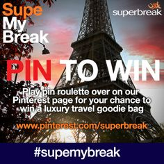 Pin to Pin any or all of the pins on this board to be in with a chance of winning. If you pin the 'lucky pin' you might just be our winner! Supe-my-Break Pin Roulette Boggie Board, Travel Competitions, Crossed Fingers, Just Be, Casual Clothes, Amazing Destinations, Luxury Travel, Beautiful Landscapes, Wish