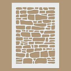 Plantilla de pared de ladrillo por StencilDirect en Etsy