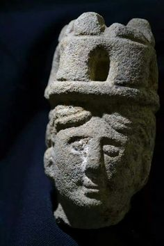 The head of a statue of the Celtic Goddess Brigantia has been unearthed at a Roman Fort in Engand.