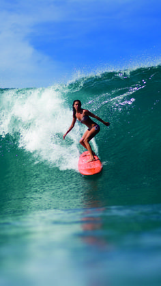 Surf girl...I would really love to be able to surf one day or at least boogie board