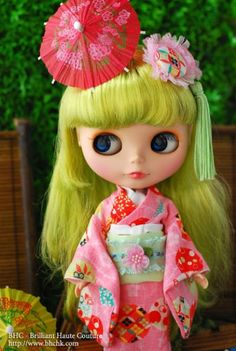 BHC Yukata Pinky Dress Set Outfit Set for Kenne Blythe Doll FN561 | eBay