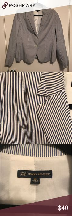 Brooks Brothers 346 Striped Suit Jacket Size 16 Excellent condition! Smoke free, pet friendly home. Brooks Brothers Jackets & Coats Blazers