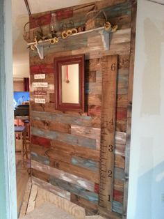 My hubby and I did this wall in a weekend!  Love it!