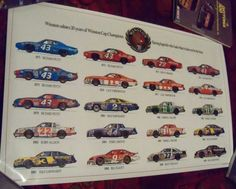 """Winston Salutes 20 Years of Winston Cup Champions Poster 33"""" x 22"""""""