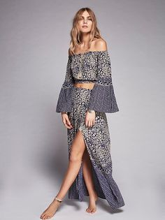 Folk Rock Printed Set at Free People Clothing Boutique Afro, Boho Outfits, Fashion Outfits, Sewing Patterns Free, Festival Fashion, Skirt Fashion, Passion For Fashion, Nice Dresses, Skirt Set