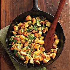 Herbed Potatoes For a full-flavor, comfort food side dish, try this recipe for potatoes, ready in less than 40 minutes and only 132 calories per serving.