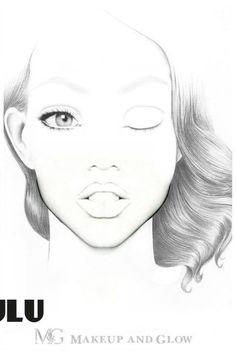 Makeup face charts blank 51 new ideas Makeup Face Charts, Face Makeup, Face Template Makeup, Makeup Tips Natural Look, Natural Beauty, Makeup Artist Portfolio, Mac Face Charts, Makeup Illustration, Grey Makeup