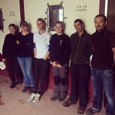 Ils sont jeunes, motivés et surtout très sympathiques... la nouvelle équipe du chai pour les vendanges 2015 est désormais au complet ! Julie (Alsace), Lésia (Corse du Sud), Adrien (Champagne) et Oska (Australie) seront d'un renfort très précieux pour Pierre et Mathilde qui démarrent cette semaine la réception du nouveau millésime... Nous sommes très heureux de les accueillir à la maison pendant près de deux mois !  #trocard #winemaking #team #cellar #harvest2015