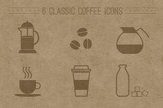 Classic Coffee Icons by shonachica