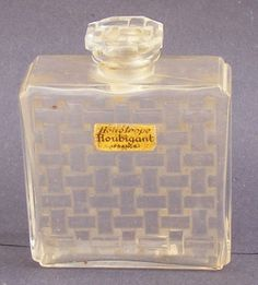 """""""Heliotrope"""" for Houbigant (C1919). Perfume flacon by René Jules Lalique 