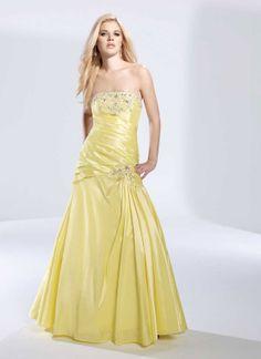 Pretty sleeveless trumpet / mermaid floor-length home coming dress
