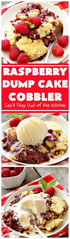 Raspberry Dumb Cake Cobbler | Posted By: DebbieNet.com
